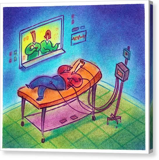 Sleep Study Canvas Print by Craig Smallish