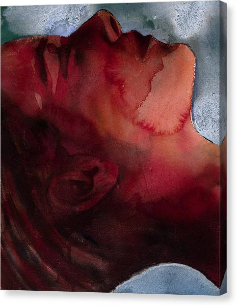 Unconscious Canvas Print - Sleeper Head by Graham Dean