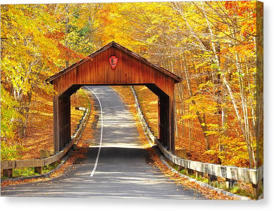 Sleeping Bear National Lakeshore Covered Bridge Canvas Print
