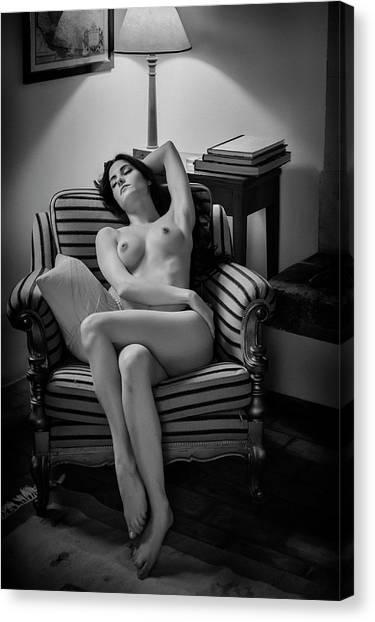 Sleep Canvas Print - Sleeping Beauty by Fabrizio Micheli