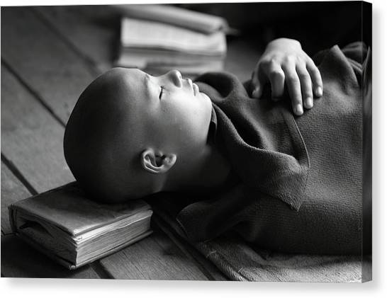 Monks Canvas Print - Sleeping Buddha by Walde Jansky