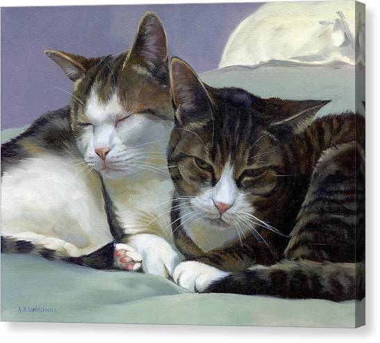 Sleeping Buddies Canvas Print
