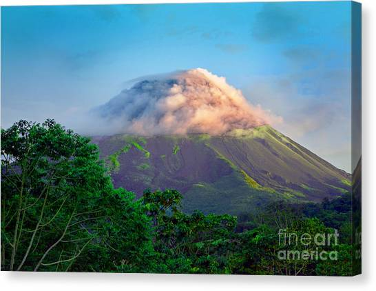 Arenal Volcano Canvas Print - Sleeping Giant by Gary Keesler