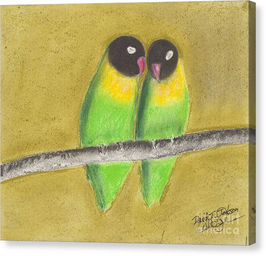 Sleeping Love Birds Canvas Print