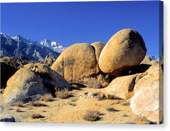 Sleeping Rock Alabama Hills Canvas Print