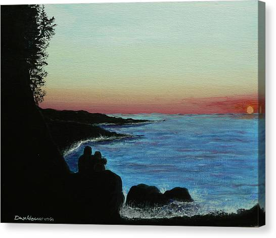 Sleepy Blue Ocean Canvas Print