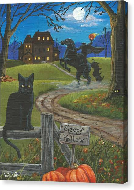 Sleepy Hollow-katrina's Cat Canvas Print by Misty Walkup
