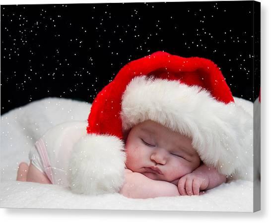 Sleepy Santa Baby Canvas Print