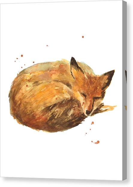 Foxes Canvas Print - Sleepyhead by Alison Fennell