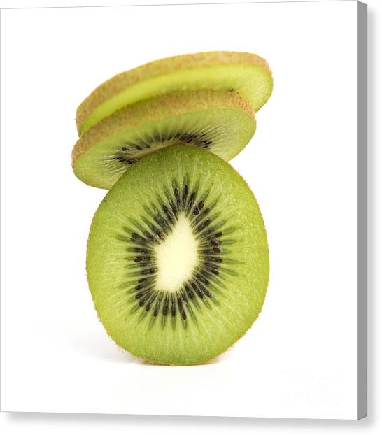 Kiwis Canvas Print - Sliced Kiwis by Bernard Jaubert