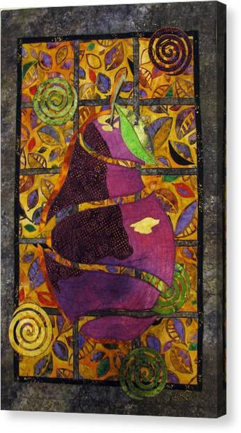 Sliced Pear Canvas Print by Lynda K Boardman