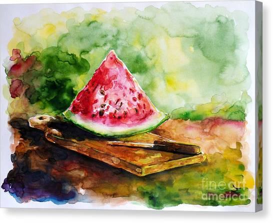 Sliced Watermelon Canvas Print