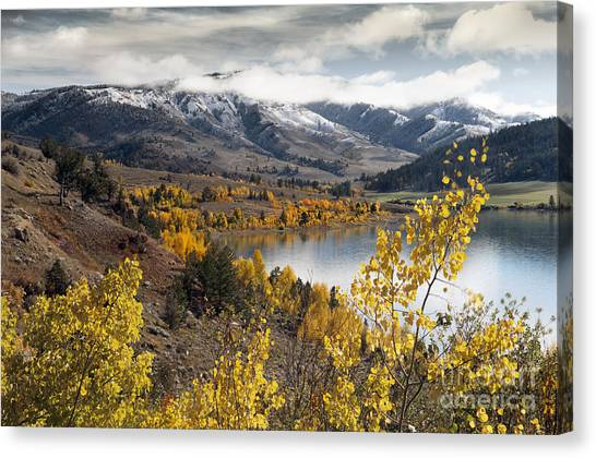 Teton National Forest Canvas Print - Slide Lake by Wildlife Fine Art