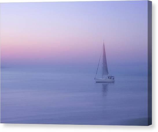 Sail Boats Canvas Print - Sliema, Malta by Ellen Van Deelen