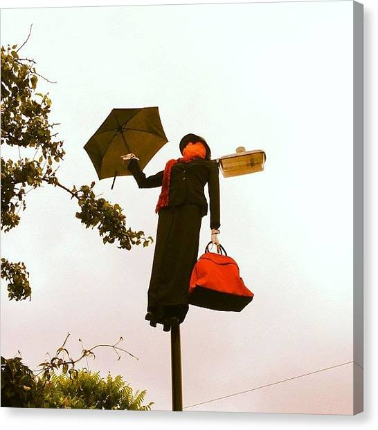 Scarecrows Canvas Print - Slightly Creepy Mary Poppins Lamp Post by Rob Jewitt