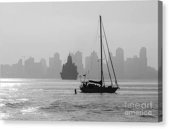 Slipping Into Port 5-2628-2 Canvas Print by Stephen Parker