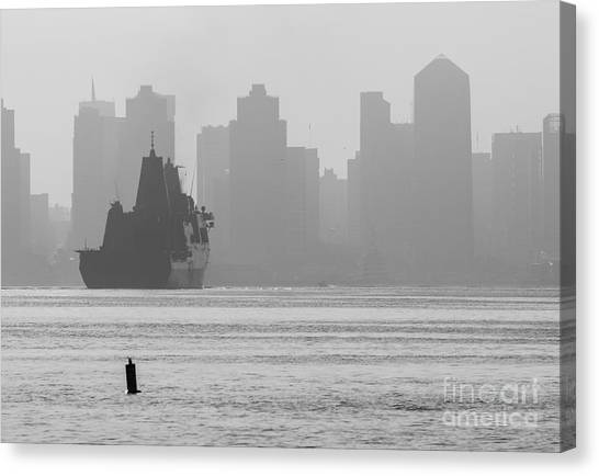 Slipping Into Port 5-2630-2 Canvas Print by Stephen Parker