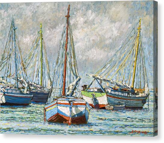 Sloops At Rest Canvas Print