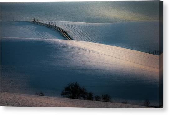 Rolling Hills Canvas Print - Sloping Road by Marek Boguszak