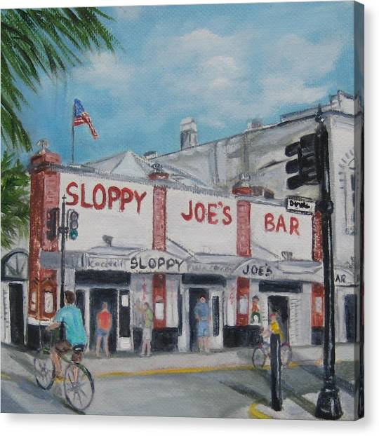 Sloppy Joe's Canvas Print