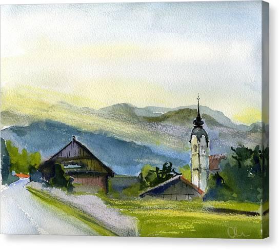 Slovenia. Vrhnika. Canvas Print by Lelia Sorokina