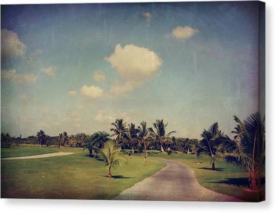 Golf Course Canvas Print - Slow And Steady by Laurie Search