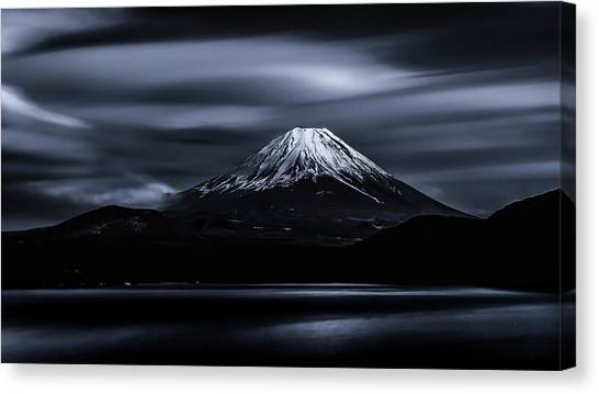 Volcanoes Canvas Print - Slow Cloud by Takashi