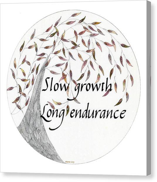 Slow Growth. Long Endurance. Canvas Print