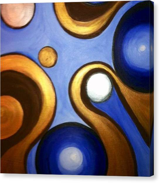 Metallic Canvas Print - Slow Motion by Tiffani Sahara