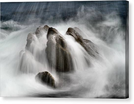 Slow Surf Canvas Print by Acadia Photography