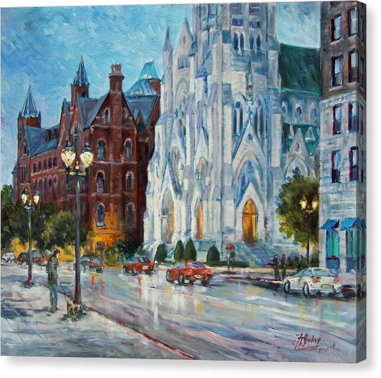 Slu And College Church Canvas Print
