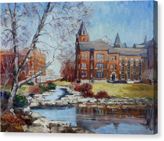 Slu Campus Cook Hall Canvas Print