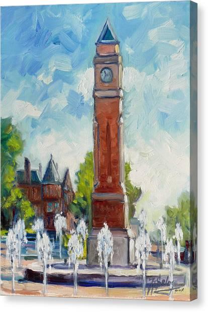 Saint Louis University Canvas Print - Slu Clock Tower 1 by Irek Szelag