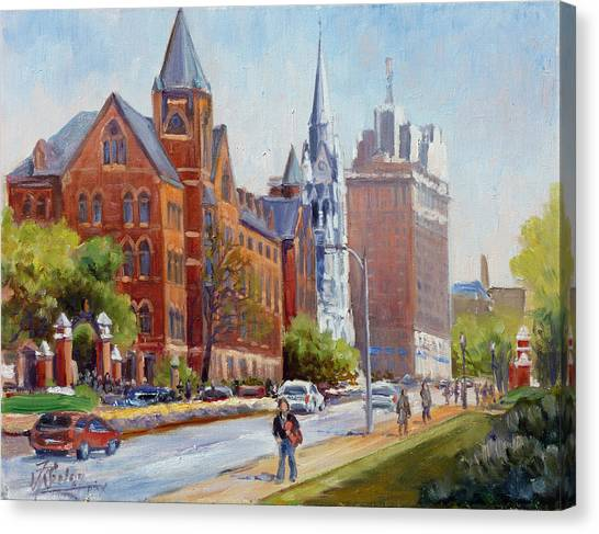 Slu Gate Grand Blvd Saint Louis Canvas Print