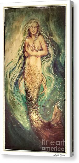 Slumbering Siren Illustration Canvas Print