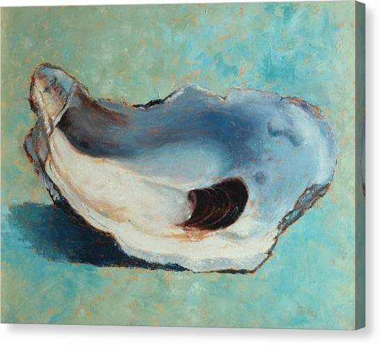 Oysters Canvas Print - Slurp by Pam Talley