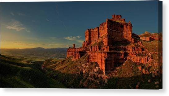 Mountain Sunset Canvas Print - Small Canyon by David Mart?n Cast?n