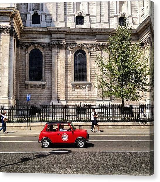 Wrens Canvas Print - Small Car. Big City. #mini #issigonis by Alex Nisbett