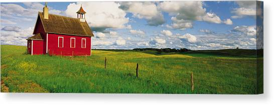 Abandoned School Canvas Print - Small Red Schoolhouse, Battle Lake by Panoramic Images
