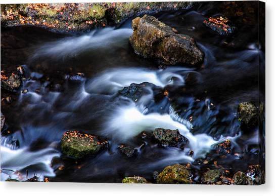 Alger Waterfalls Canvas Print - small section of Miners River by Optical Playground By MP Ray
