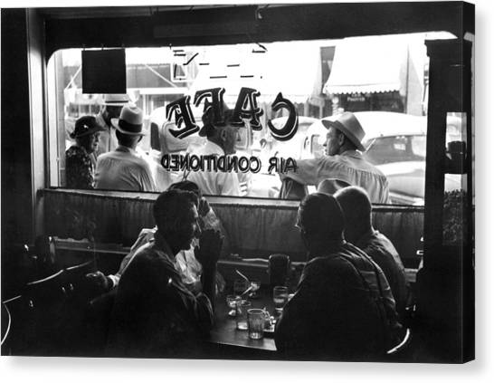 Small Town Cafe, 1941 Canvas Print by Granger