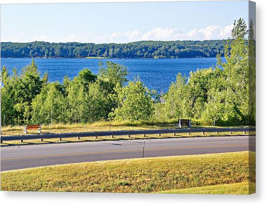 Small Town Georgian Bay Waterfront Views Canvas Print