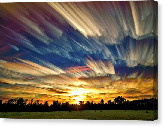 Blue Sky Canvas Print - Smeared Sky Sunset by Matt Molloy