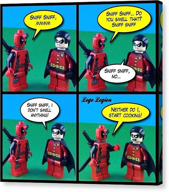 Robins Canvas Print - Smells Delicious #legolegion by Lego Legion