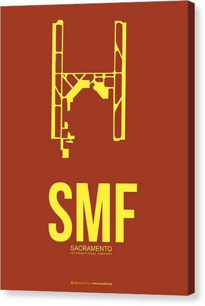 Sacramento State Canvas Print - Smf Sacramento Airport Poster 1 by Naxart Studio