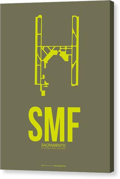 Sacramento State Canvas Print - Smf Sacramento Airport Poster 3 by Naxart Studio