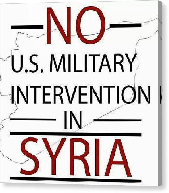 Syrian Canvas Print - Smh (what If) They Retaliate And Bomb by Brandon Fisher