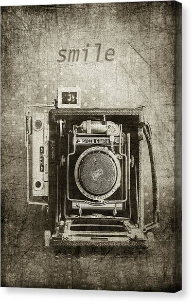 Smile For The Camera - Sepia Canvas Print