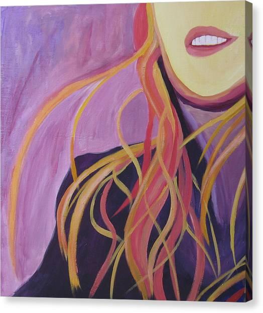 Smile Canvas Print by Ingrid Torjesen