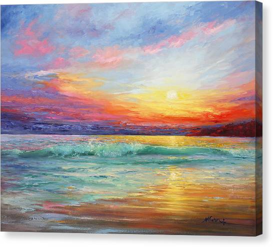 Impasto Oil Canvas Print - Smile Of The Sunrise by Marie Green